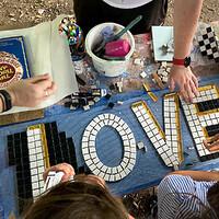 Mosaic Making Workshop at Lost Horizon in Bristol
