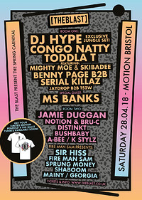 The Blast Spring Carnival with DJ Hype & at Motion in Bristol