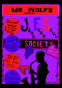 JFS Presents: First Live Open Jam - SOLD OUT  at Mr Wolfs in Bristol