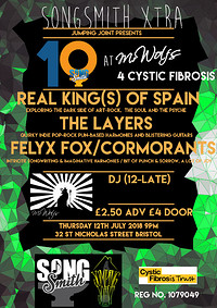 SongSmith Xtra In Aid of Cystic Fibrosis Trust at Mr Wolfs in Bristol