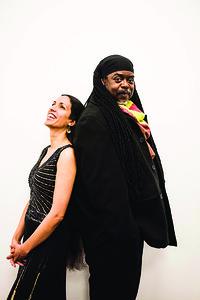 Courtney Pine with Zoe Rahman at St George's Bristol in Bristol