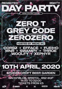 Redacted x 3Sixty - Bank Holiday Day Party: Zero T at Stokes Croft Beer Garden in Bristol