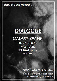 Body Clocks Present - Dialogue at Take Five Cafe in Bristol