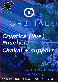 Orbital 002 at Take Five Cafe in Bristol