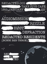 Redacted: 001 - Audiomission, Rizzle at Take Five Cafe in Bristol