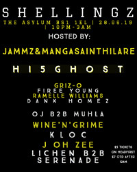 Shellingz at The Asylum in Bristol