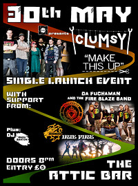 """cLuMsY """"Make This Up"""" Single Launch Event at The Attic Bar in Bristol"""