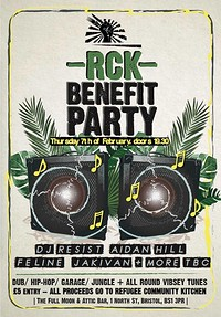 RCK Benefit Party: DJ Resist, Aidan Hill and more! at The Attic Bar in Bristol