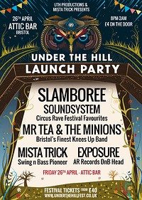 Under The Hill Launch Party at The Attic Bar in Bristol