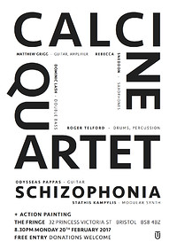 CALCINE QUARTET // SCHIZOPHONIA at The Bristol Fringe in Bristol