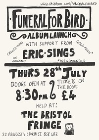 Funeral for bird at The Bristol Fringe in Bristol