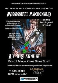 Mississippi Macdonald christmas blues at The Bristol Fringe in Bristol