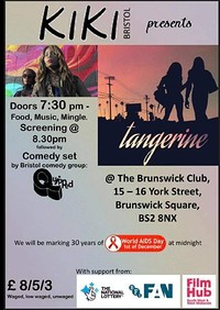 Kiki presents: Tangerine at The Brunswick Club in Bristol