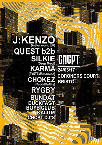 CNCPT Presents  at The Coroner's Court in Bristol