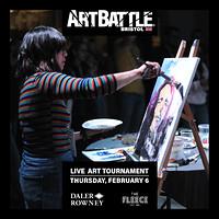 Art Battle February at The Fleece in Bristol