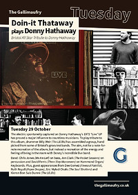 Doin-it Thataway plays Donny Hathaway at The Gallimaufry in Bristol