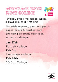 The Island Presents: Art Class with Rose (Online) at The Island in Bristol