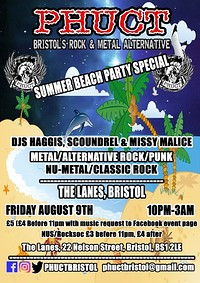 PHUCT - Summer rock-out at The Lanes in Bristol