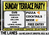 Sunday Terrace Party @ The Lanes at The Lanes in Bristol