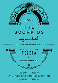 The Grey Area presents: The Scorpios & Tezeta at The Lanes in Bristol