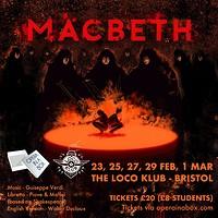 Macbeth at The Loco Klub in Bristol