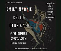 Emily Magpie, Cécile and Cure Kydd at The Louisiana in Bristol