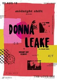 Midnight Shift 00|03 w/ Donna Leake  at The Love Inn in Bristol