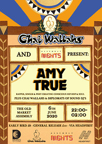POSTPONED! Chai Wallahs Presents: Amy True at The Old Market Assembly in Bristol