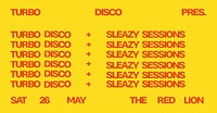 Turbo Disco After Party w/Sleazy Sessions at The Red Lion BS5 in Bristol
