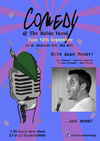 Comedy at the Robin Hood! with Adam Money at The Robin Hood in Bristol