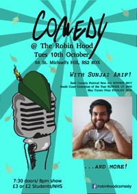 Comedy at the Robin Hood! With Sunjai Arif at The Robin Hood in Bristol