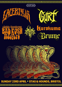 Lacertilia / Gurt / CTBKM / DVNE / Kurokuma /Brume at The Stag And Hounds in Bristol