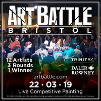 Art Battle Bristol at The Trinity Centre in Bristol