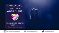 Trans Pride: Spoken and Written Word Evening at The Watershed in Bristol