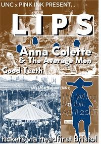 LIPS / Anna Colette & The Average Men / Luke Moss at The White Rabbit in Bristol