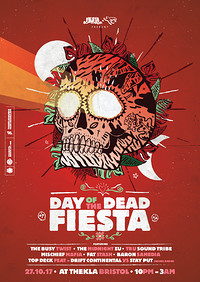 Day of the Dead Fiesta w/ The Busy Twist at Thekla in Bristol