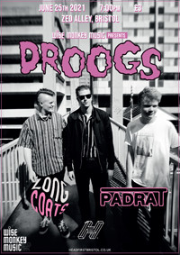 Wise Monkey Presents: Droogs + Longcoats & Padrat at Zed Alley, Bristol in Bristol