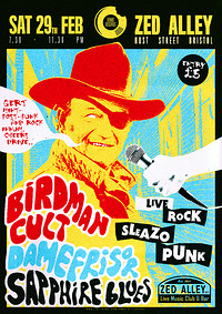 Birdman Cult/DAMEFRISØR/Sapphire Blues/Fawner at Zed Alley in Bristol