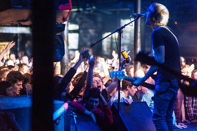 Band playing at a punk gig